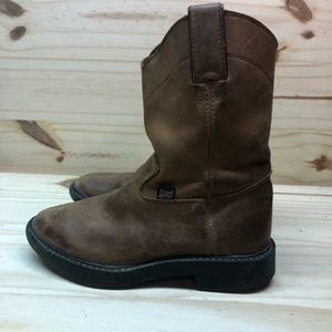 Justin Leather Boots.  Kids size 11.5